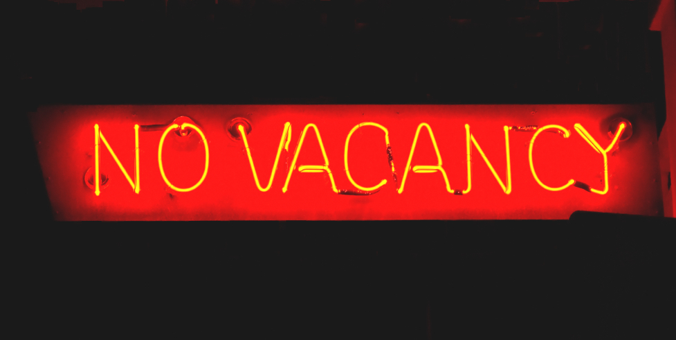 No vacancy sign
